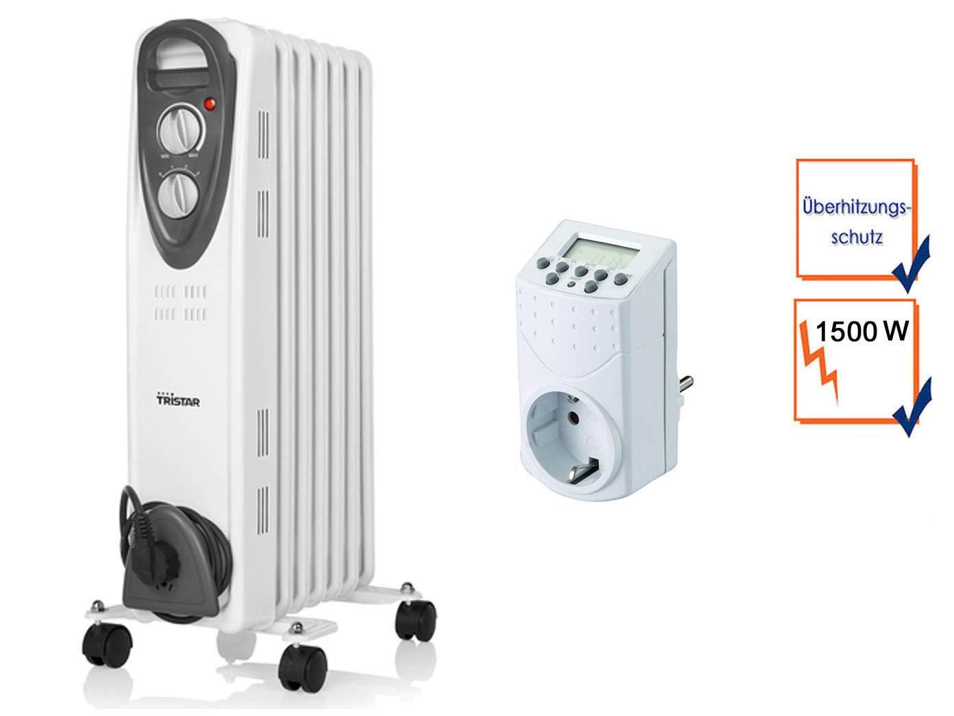 1500 W Tristar eléctrico Radiador con ruedas, regelbarem Termostato y temporizador, radiador: Amazon.es: Bricolaje y herramientas