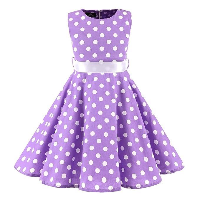 Bibao Vestido Informal con Estampado de Lunares para niñas de los ...