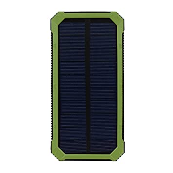 zolimx Cargador Solar 20000mAh, Universal Portátil USB Doble Cargador de Batería Solar Energía Externa del Banco de Energía LED Luz Solar con USB ...