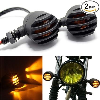 Home Aluminum Motorcycle Led Front Rear Turn Signal Light Indicator Chrome Custom 41mm Fog Fork Lamp For Cafe Racer Chopper Sportster