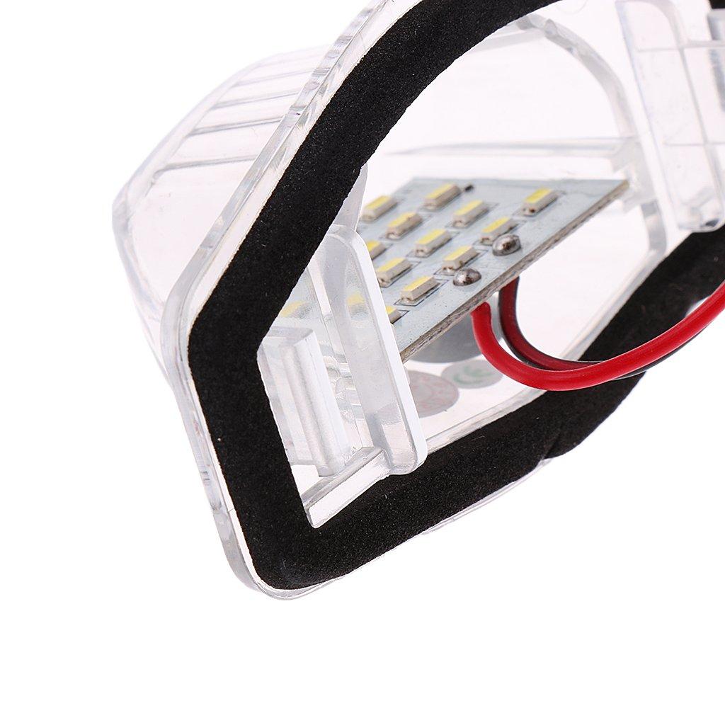 LED Luz De Placa 24-SMD L/ámpara Diurna Blanca Para Honda CRV Crosstour Odyssey