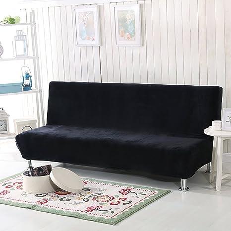 YQ WHJB Felpa Funda elástica,Color sólido Funda de sofá sin Brazos,Tramo de
