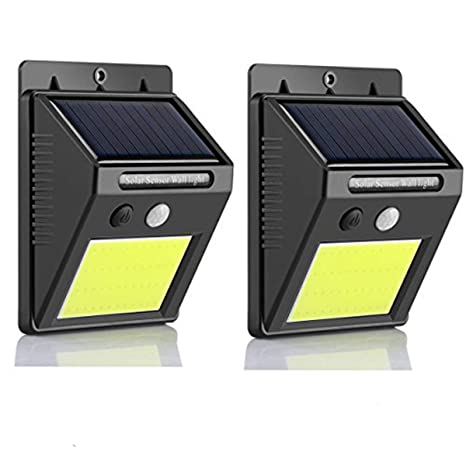 Foco Solar, Frontoppy Luces Solares 48 LED,1800mAh Lámparas Exterior Solares de Pared Impermeable