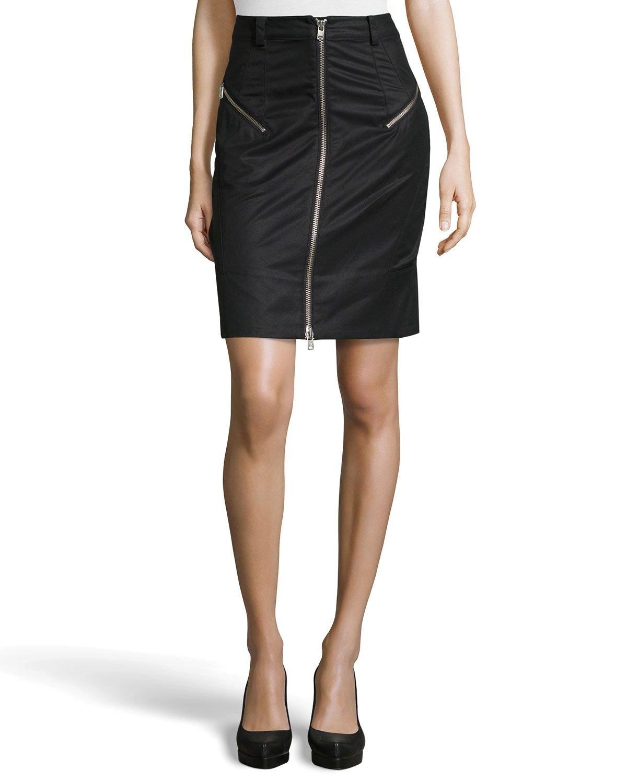 Alexander McQueen McQ Ruffle Back Zipper Skirt (42)