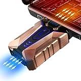 VOOPII ノートパソコン 冷却ファン 吸引式クーラー 排気口に取付 CPUファン 銅アルミ合金 冷却パッド 最高4500RPM LED搭載 回転数(調節可能)&温度表示 静音