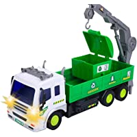 SODIAL Children's Remote Control Garbage Truck with Lights, 4WD Recycling Garbage Truck, Toys for Children 2-6 Years Old…