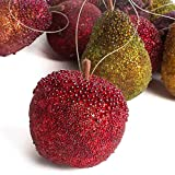 Factory Direct Craft 12 Piece Glistening Tiffany Style Beaded Artificial Fruit Ornaments for Holiday and Seasonal Decor