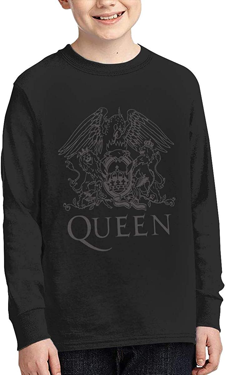 Guangxitielaitouziyouxiangongsi Queen Boys Girls Long Sleeve Graphic Fashion T-Shirt