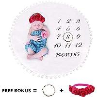 Manta de hito para bebé mensual, accesorios