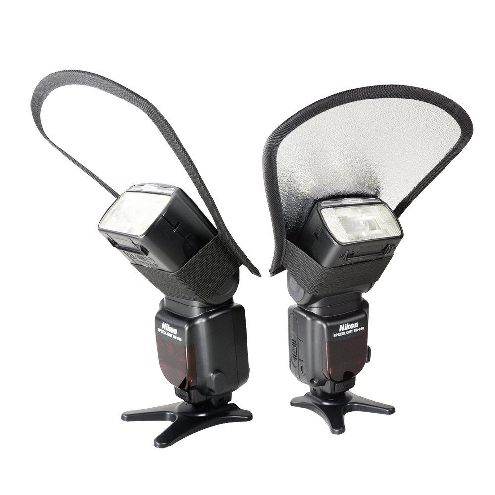 Foto&tech Silver/White Two Sided Flash Diffuser Reflector for Speedlight Nikon SB-900, SB-800, SB-910,Canon 580EX II, 600EX-RT,430EX II, Pentax AF-360FGZII, Olympus FL-600R, Panasonic DMW-FL360L FotoTech 4332004805