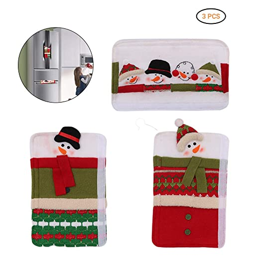 Kylewo 3 x Guantes aislantes de microondas navideños manija de la ...