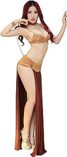 Honeystore Womenu0027s Halloween Cosplay Space Slave Uniforms Costume Lingerie Set Brown Medium  sc 1 st  Amazon.com & Amazon.com: Star Wars Jabbau0027s Prisoner Princess Leia Costume: Clothing