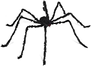 6.6 Ft Halloween Decorations Giant Spider,Scary Hairy Large Spider Props for Halloween Outdoor Yard Decorations,Party Decor, Black