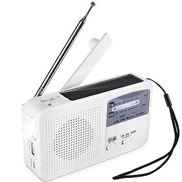 Radio De Emergencia Portátil Energía Solar Dínamo Energía ...