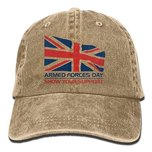 Men Women Armed Forces Day Yarn-Dyed Denim Adjustable Baseball Cap