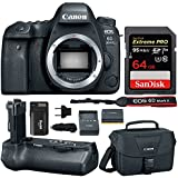 Canon EOS 6D Mark II DSLR Camera Body with BG-E21 Battery Grip and 64GB Bundle