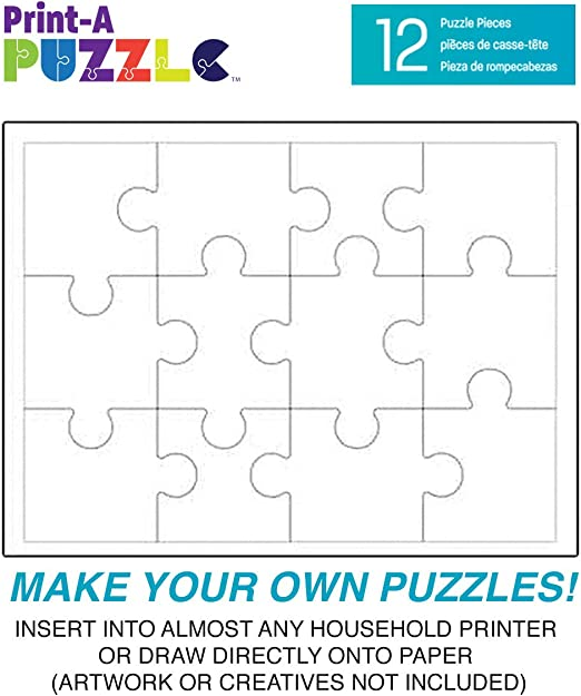 This is a picture of Make Your Own Jigsaw Puzzle Printable throughout blank
