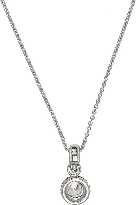 Silver Trends Damen Kette mit Vario Clip Anhänger echt 925 Sterling Silber 43 cm lang mit Zirkonia