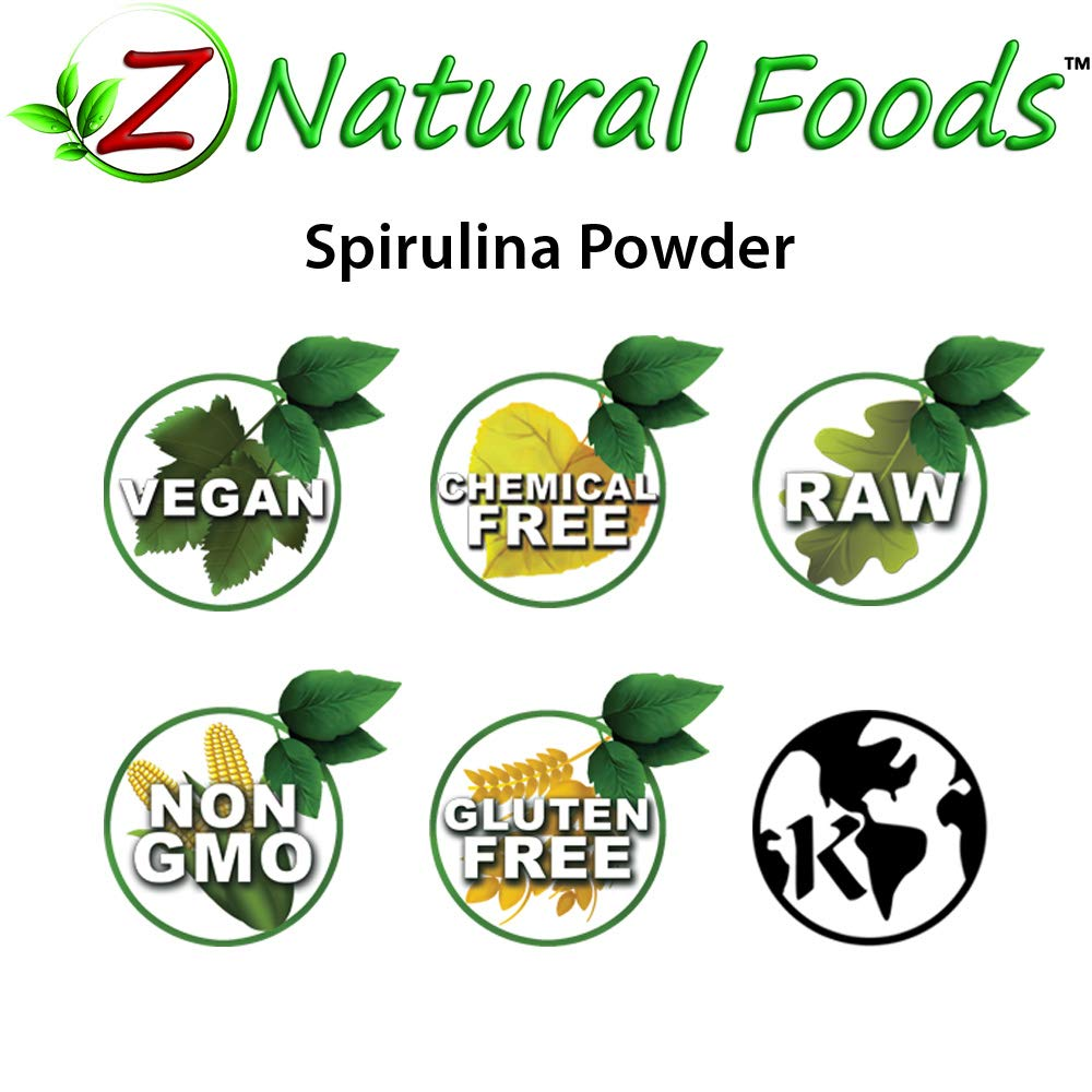 Organic Spirulina Powder - 5 lb - Amazing Blue Green Algae Superfood - Rich In Amino Acids, Vitamins, & MInerals - Mix In Drinks, Smoothies, Shakes, & Recipes - Raw, Vegan, Non GMO, Gluten Free by Z Natural Foods