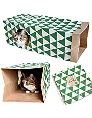 JZMYXA Cat Paper Bag Tunnel Toy Collapsible Tunnel for Rabbits, Kittens, Ferrets, Pet Paper House