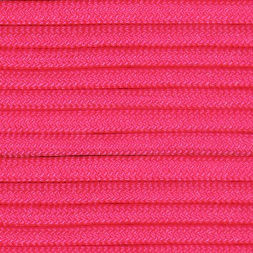 50' 550 Lb Type (Neon Pink 50' Paracord Hero 10' 20' 50' 50' Hanks Parachute 550 Cord Type III 7 Strand Paracord - Largest Paracord Selection)