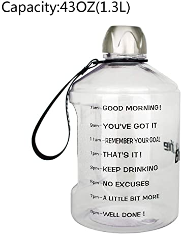 BuildLife 1 Gallon Water Bottle Motivational Fitness Workout with Time  Marker  839e04c5edd2