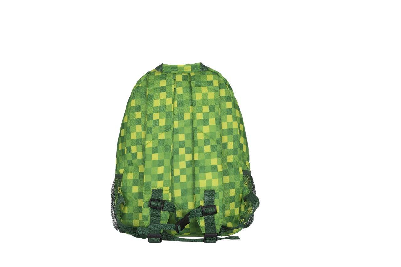 Plecak jednokomorowy w zielona kratke z panelem silikonowym