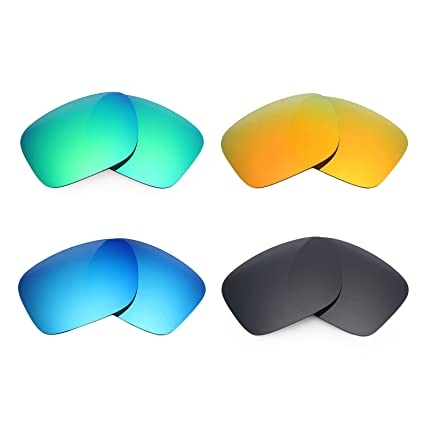 2de2bacbf4 Amazon.com  Mryok 4 Pair Polarized Replacement Lenses for Oakley Holbrook  LX Sunglass - Stealth Black Fire Red Ice Blue Emerald Green  Sports    Outdoors