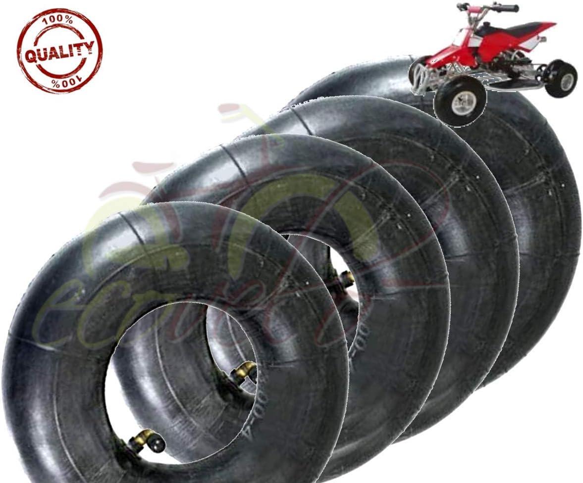 V/álvula met/álica de hierro para rueda de carretilla Caucho neum/ático Kit de 4 c/ámaras de aire 3.00-4 VF TR87 Mini quad ECX04CUD Portaequipajes