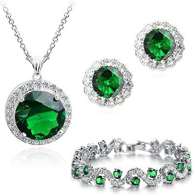 abbastanza Verde smeraldo simulato Cristalli austriaci di zirconi Purare OB82
