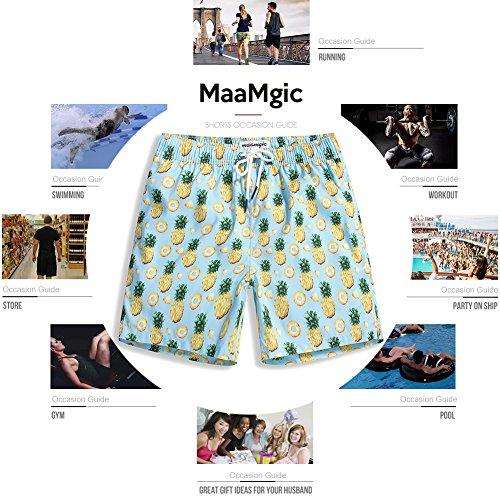 5c74cc86bb93d MaaMgic Mens Boys Short Swim Trunks Mens Bathing Suits Slim Fit Swim Shorts  Quick Dry Swimsuit