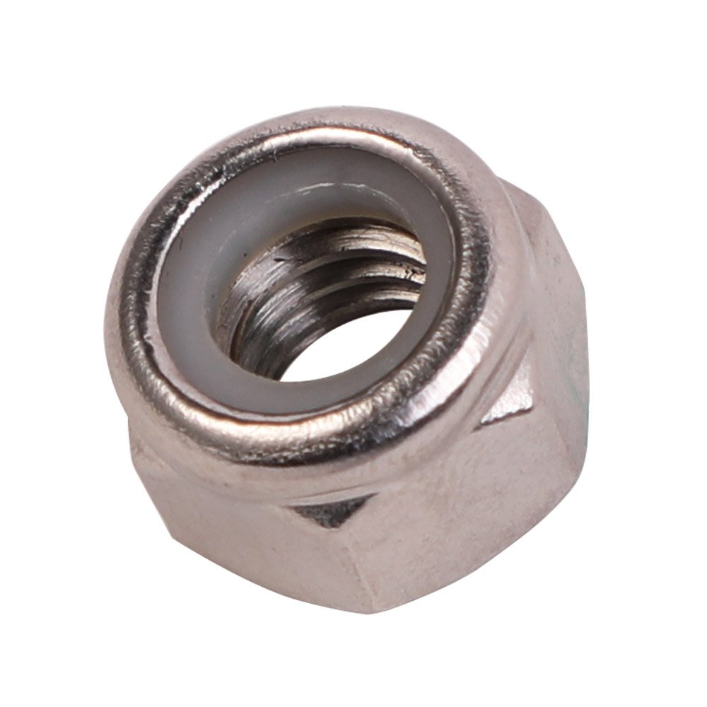 5/16-18 Nylon Insert Hex Lock Nuts, Stainless Steel 18-8, 100 PCS