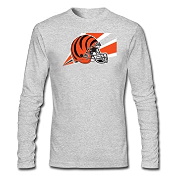De equipo de fútbol americano Cincinnati Bengals camiseta de manga larga T-Shirt para hombre gris Gery Talla:large: Amazon.es: Deportes y aire libre
