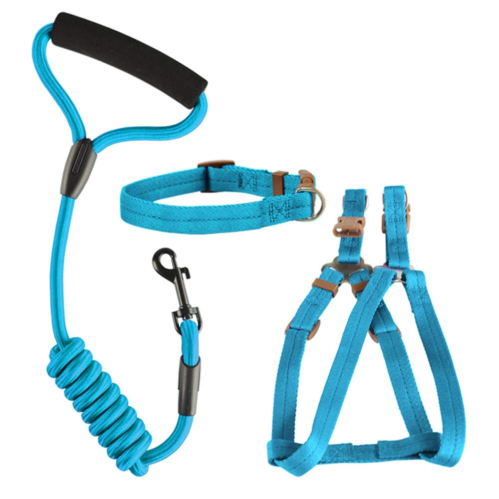 Light bluee Small Light bluee Small Dog Safety Vest Harness, Pet Dog Adjustable Harness with Walking Lead Leash Chest Strap Durable Comfortable