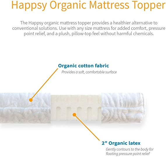 Happsy mattress topper reviews: Comfort and support, naturally