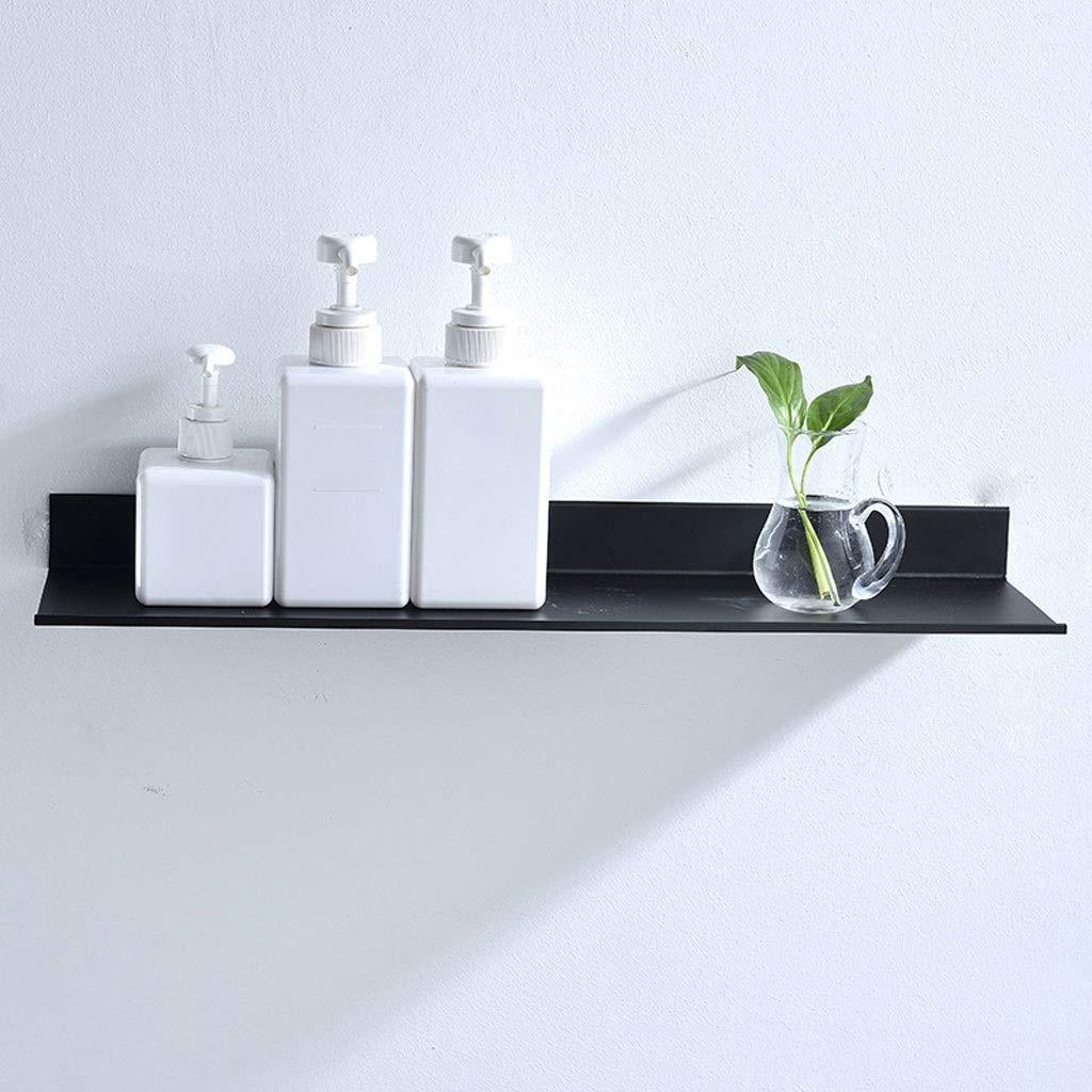 Dimensioni : 30 Centimetri ,Bathroom Shower Caddy Shelf,Ossidazione Anodica Rettangolare Tmpty Mensola Doccia da Muro Alluminio Mensole Bagno Nero