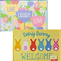 2 Pack Easter Welcome Printed Accent Rugs 20 inch x 30 inch