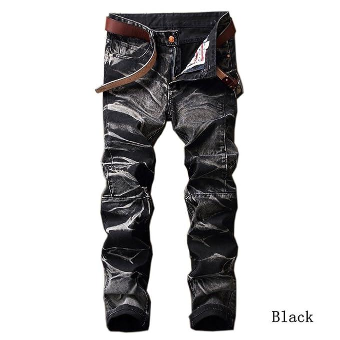 Amazon.com: nzk para hombre vintage Jeans recta macho ...