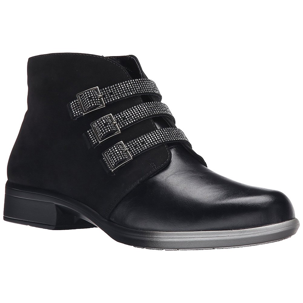 NAOT Vardar Aura Women Boots, Blk Madras/Blk Velvet Nubuck,Size - 37