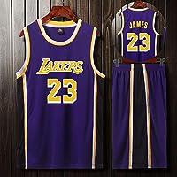 YINGH Ropa de Baloncesto de la NBA, Traje de Uniforme de Baloncesto James Kobe de los Lakers, Camisa de Sudadera Transpirable de Verano Jerseys Shorts, Varios tamaños