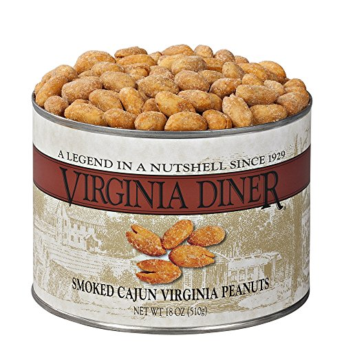 Smoked Peanut (Virginia Diner Peanuts, Smoked Cajun Seasoned, 18-Ounce)