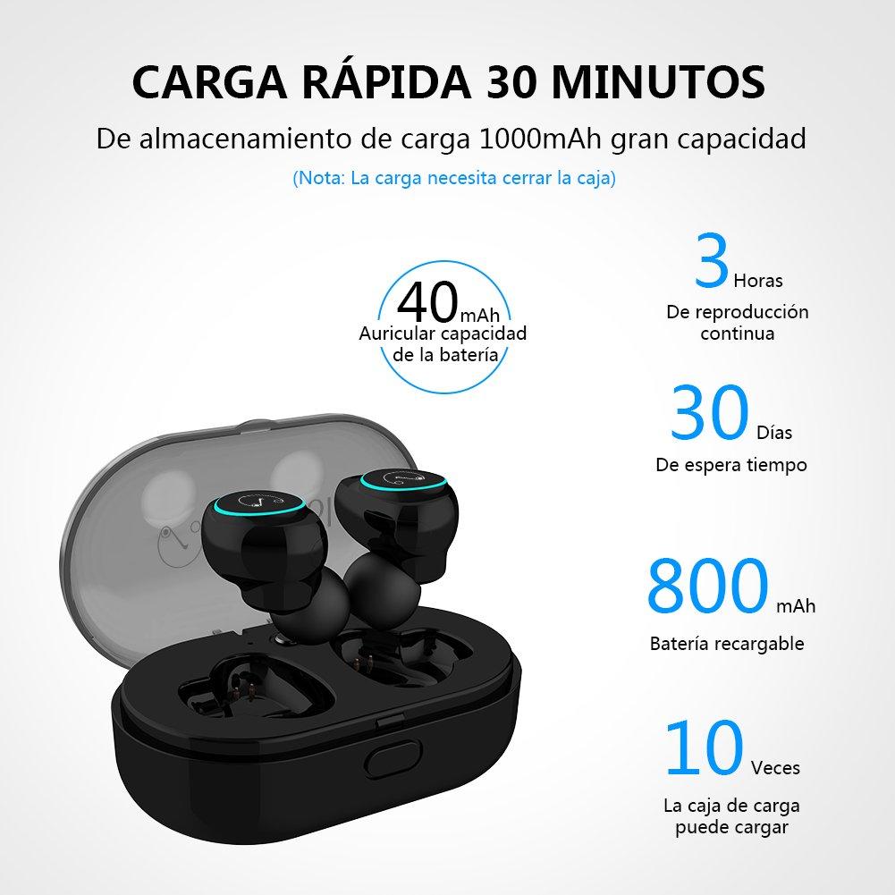 StillCool Auricular Bluetooth Inalámbricos Mini 5.0 In-Ear X8 con Efectos de Luz, con Caja de Carga Auriculares estéreo inalámbricos a Prueba de Agua IPX 5 ...