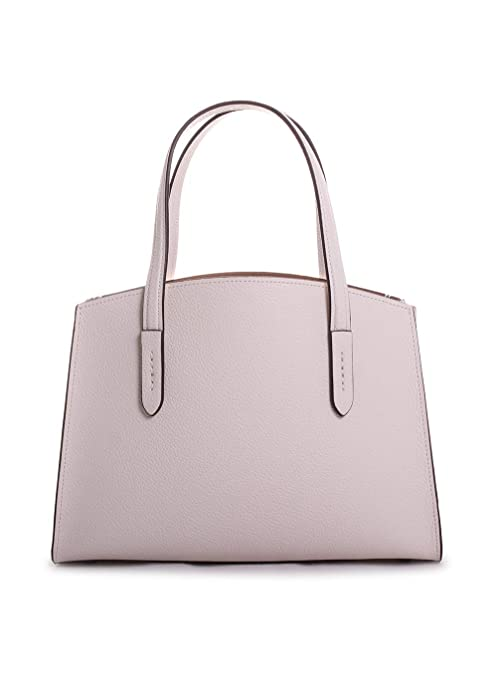 9554840e56 COACH Women's Charlie 28 Carryall in Polished Pebble Leather Chalk ...