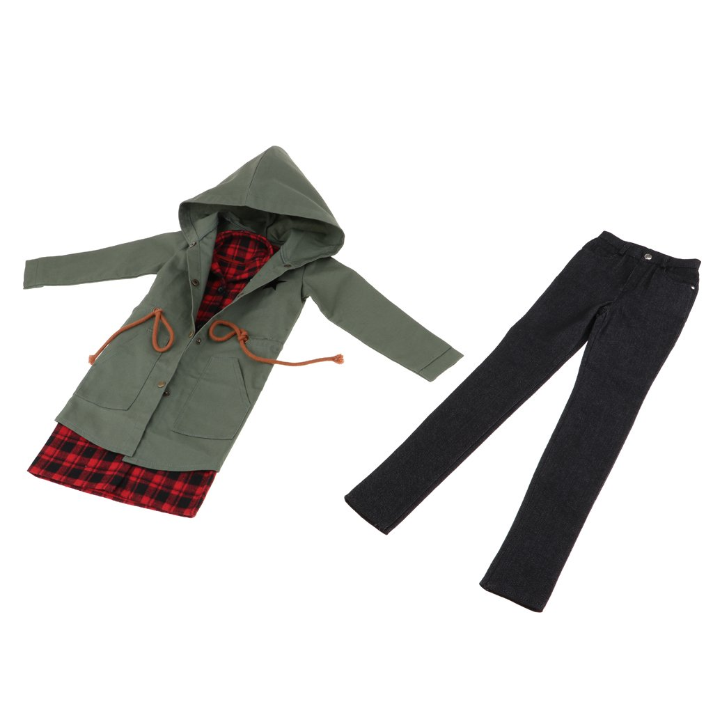 D DOLITY Doll Clothes Ropa Adorable para 70 cm Tío Bjd Muñeca Vestir - B, 3 Piezas