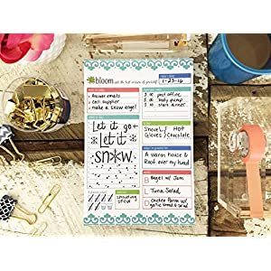"bloom daily planners Planning System Tear Off To Do Pad - Teal Daily Planner To Do Pad 6"" x 9"""