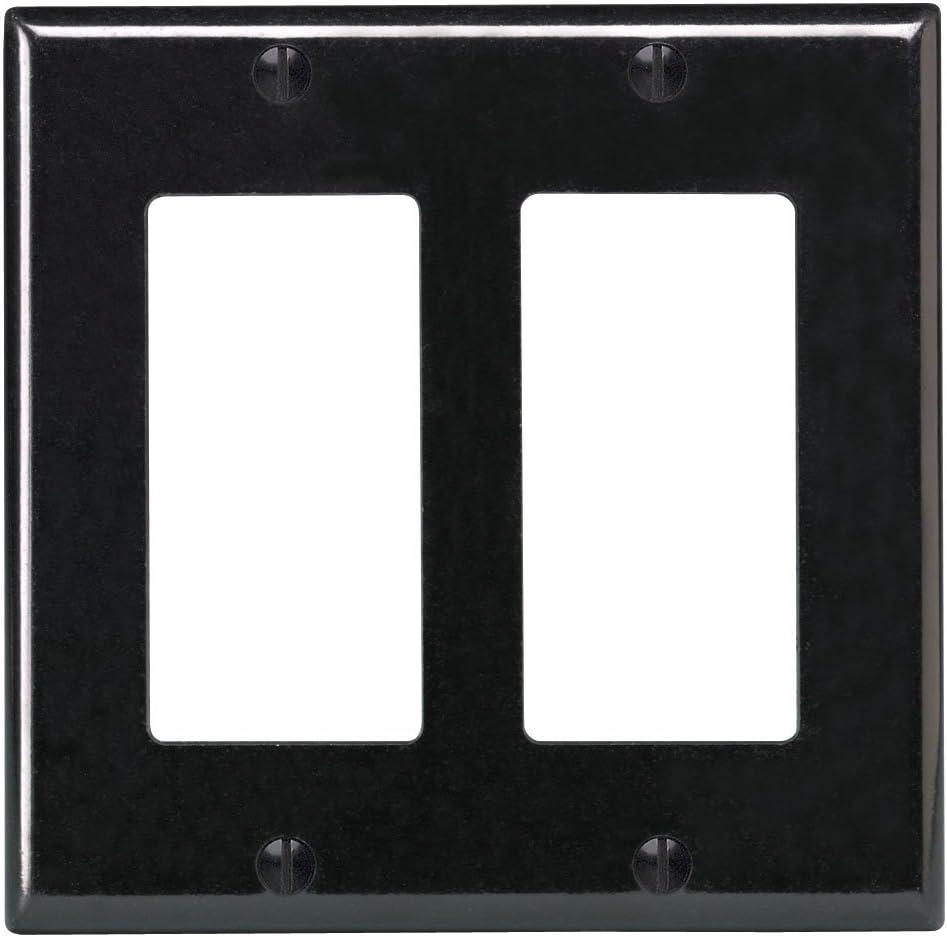 Leviton R04-80409-00E Double Gang Wall Plate