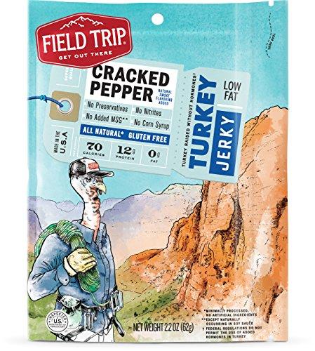 [Field Trip Turkey Jerky, Cracked Pepper, 2.2 Ounce] (Pepper Jerky)