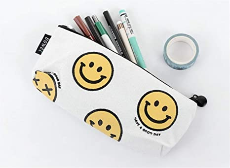 LANTA Home Carton Smiley Face Pen Estuche de lápices ...