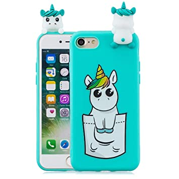 coque iphone 8 licorne 3d