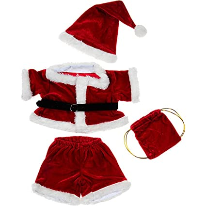 6c555dfc2af Amazon.com  Santa Costume Outfit Teddy Bear Clothes Fit 14